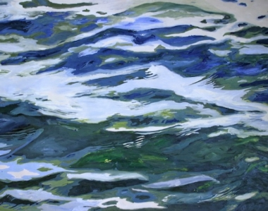 "Ilse Gabbert, Kaagerplas #3, oil on canvas, 43,3 x 55,1 in, from the series ""water paintings"""