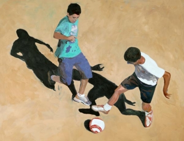 "Ilse Gabbert, Casole, oil on canvas, 43,3 x 55,1 in, from the series ""from above"""